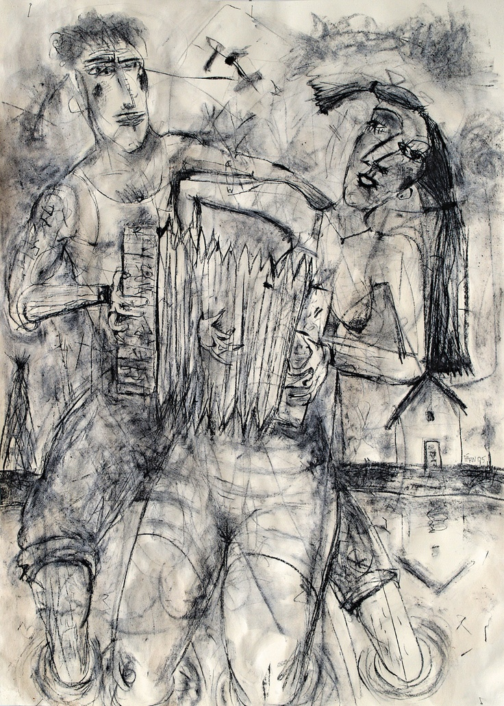 Priit Pärn: Tasapaino 3, hiili ja tee, 1995. Kuva: Uula Kontio
