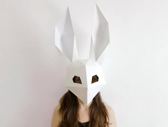Make your own Skull Mask Low Poly Rabbit Mask by AwesomePatterns