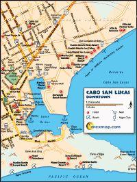 Cabo San Lucas Mexico Map