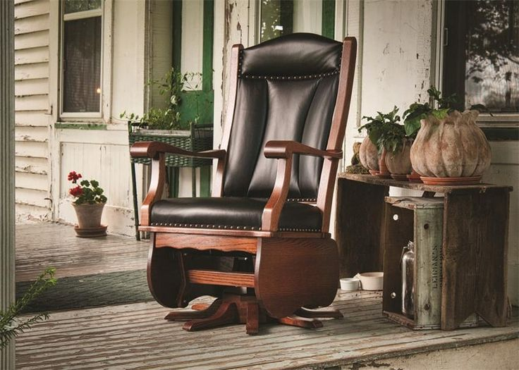 amish heritage swivel glider rocking chair - Glider Rockers