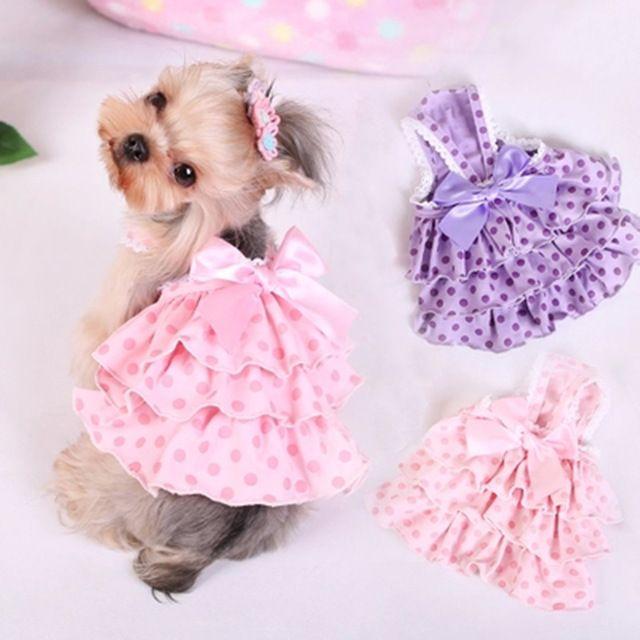 Bolo de bolinhas saia tática roupa do cão arco bolha saia Pet filhote de cachorro roupas para cães