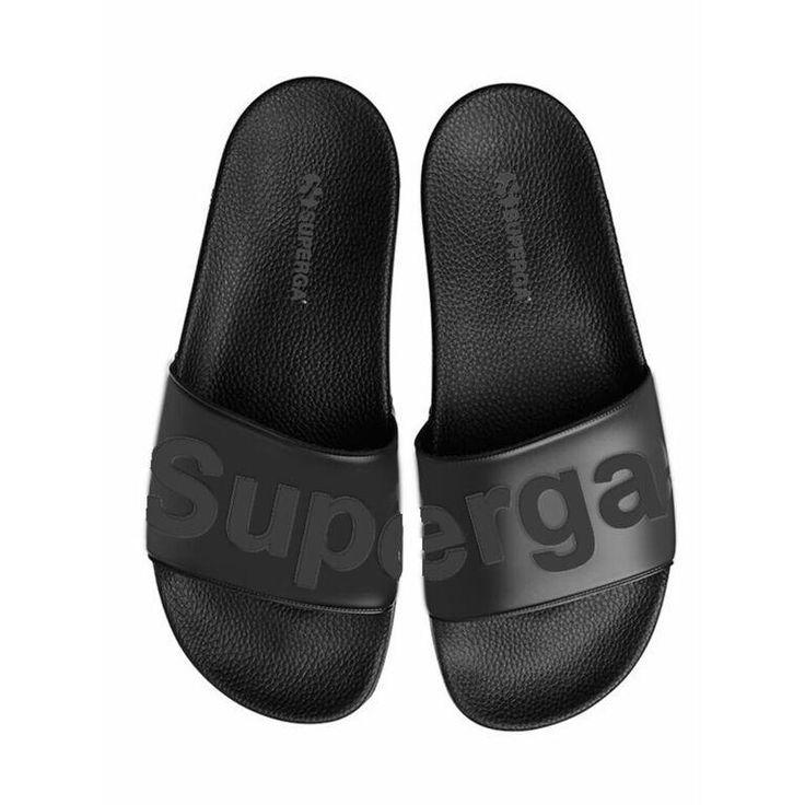 SUPERGA - Pool Slides - Black