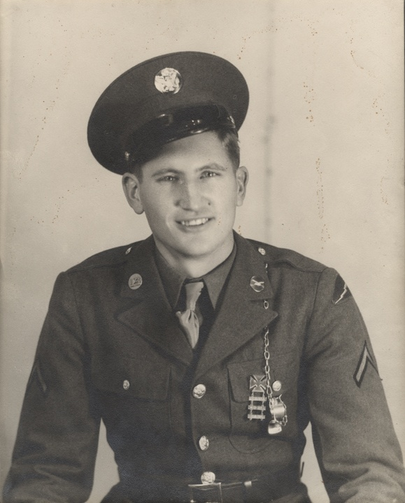 Q54906 - Technical Sergeant William Clinton Davis of the 311th Infantry. Davis, a former resident of Skyline Farms in Jackson County, Alabama, was killed in action in Germany on February 13, 1945. (ADAH)