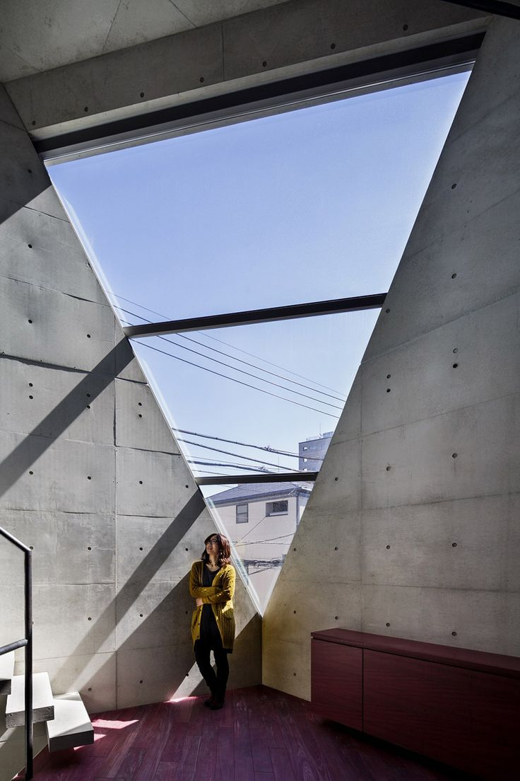 """""""The way of building architecture respectfully towards nature and the environment in high density residential districts in Tokyo is to build towards the sky,"""" says Atelier Tekuto."""