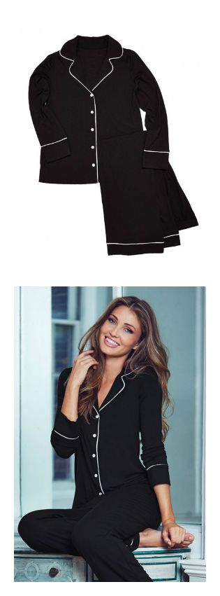 Black pajama set from Adore Me Lingerie