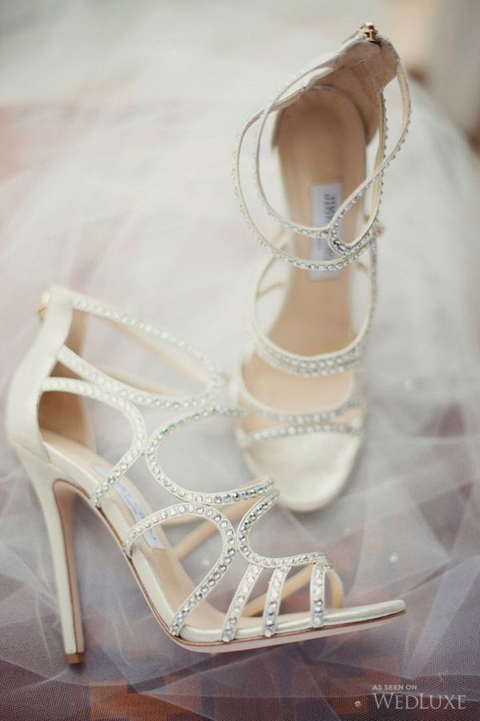 Ivory Wedding Shoes With Pretty Details
