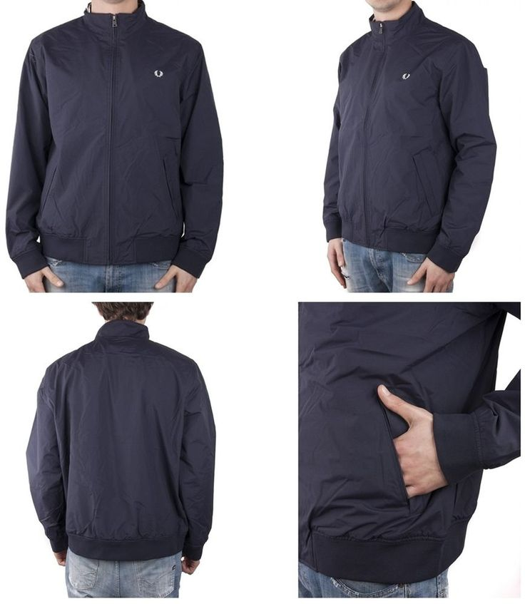 GIUBBINO UOMO FRED PERRY J8228 BRENTHAM JACKET 608 NAVY SPRING SUMMER XS XS XS