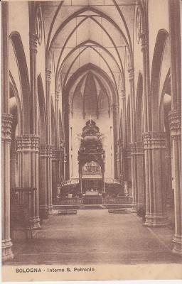 Unknown Italian Publisher Postcard - Bologna - Interno S Petronio c1909