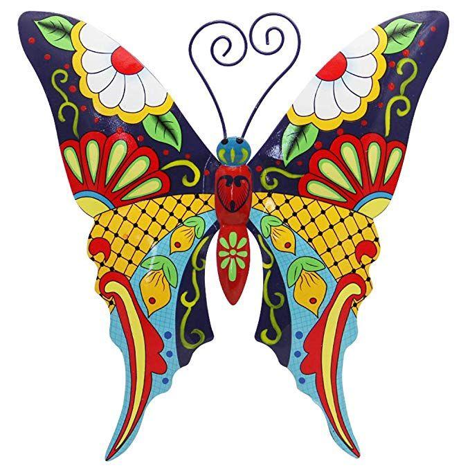 Amazon Com Juegoal Metal Wall Art Inspirational Butterfly Wall Decor Sculpture Hang Indoor Ou Butterfly Wall Decor Metal Butterfly Wall Art Butterfly Wall Art