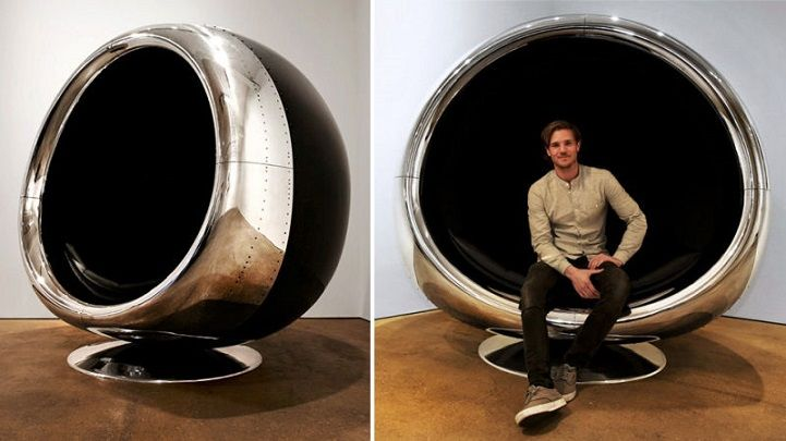 A big fan of all things aviation? This innovative chair marries aircraft engineered quality with industrial furniture design, resulting in an unconventionally eye-catching centerpiece. The 737 Cowling Chairwas designed by Fallen Furniture, a company that specializes in producing aviation furniture out of authentic, reclaimed aircraft parts. This particular masterpiece was made out of a repurposed engine cowling taken from a Boeing 737. The impressive furniture item is guaranteed to be a…
