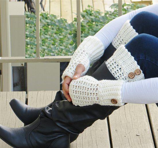 Brooklyn Fingerless Mittens - Media - Crochet Me