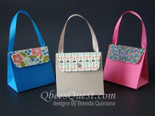 Qbee's Quest: Gift Bag Punch Board Purse Tutorial