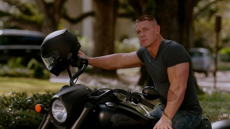 Indian Chief (2015) motorcycle driven by John Cena and Bell helmet in DADDY'S HOME (2015) #Indian #Bell