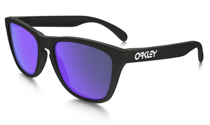 Shop Oakley Frogskins® in MATTE BLACK / VIOLET IRIDIUM at the official Oakley online store.