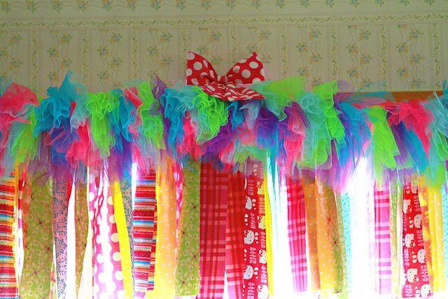 tutu curtain --- too busy, but love idea