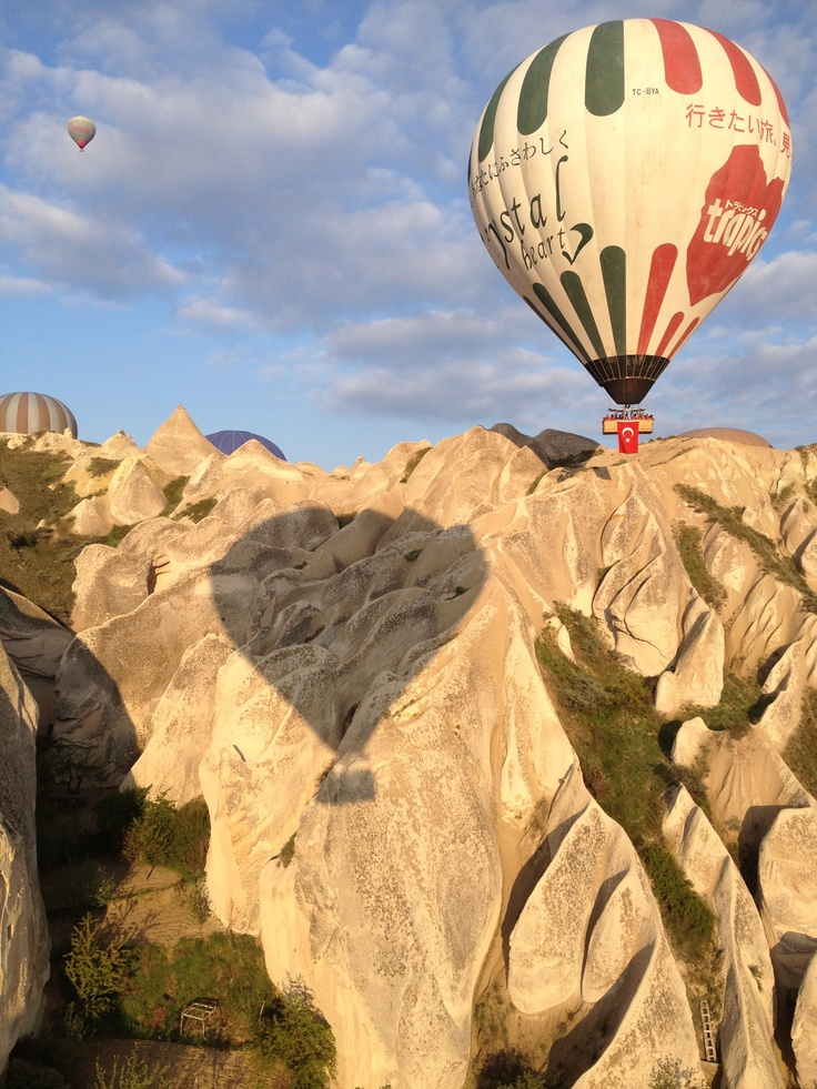 This is the joy of a hot air balloon while traveling in Turkey.