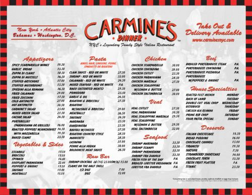 1000 images about carmine 39 s traditional family style for Carmines nyc