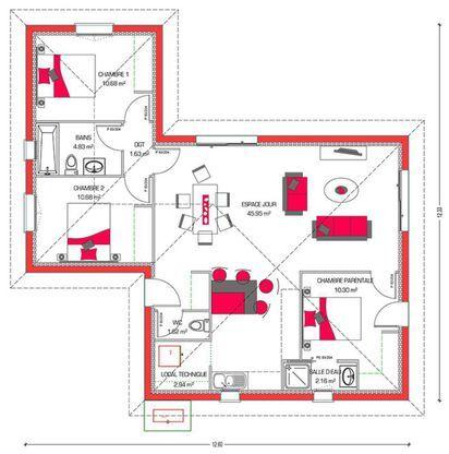 Modèle de maison Villa Hortense - . Retrouvez tous les types de maison à vendre en France sur Faire Construire Sa Maison
