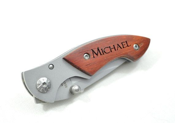 Engraved Pocket Knife Personalized Laser Engraved Groomsman Gift Fathers Day on Etsy, $19.75
