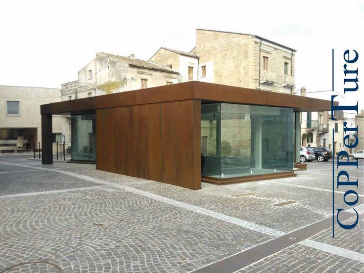 Trattamento Corten ox 43 per domus romana di San Salvo - Chieti - #corten #oxidation  Oxidation treatment corten ox 43 For Roman house of San Salvo - Chieti  www.copperture.eu