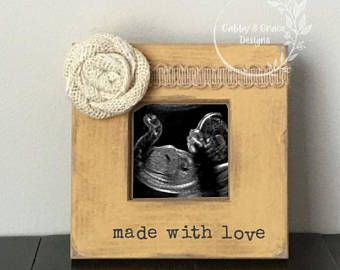 New Baby Frame Ultrasound Frame Made With Love Sonogram Frame Frame