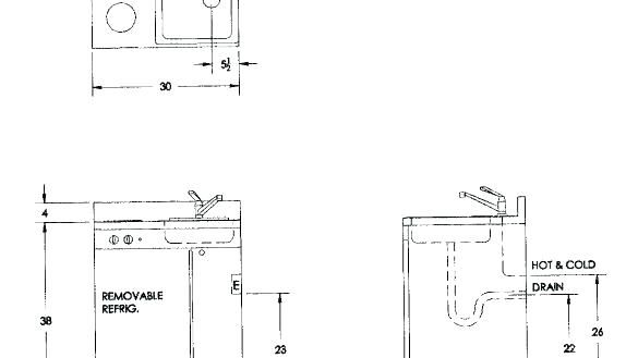 New Plumbing Rough In Dimensions Or Pedestal Sink Height