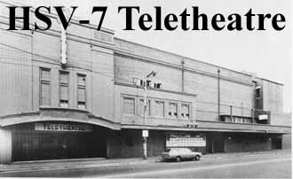 The HSV Channel 7 Teletheatre, formerly the Regent Cinema, Johnston Street, Fitzroy. Bought and converted by HSV7 c. 1960 for broadcasting live variety shows, it hosted the first Melbourne production of The Rocky Horror Show in the late 1970s. Since demolished.