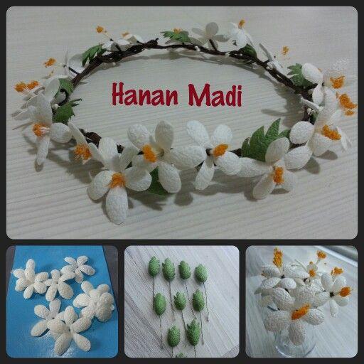 تاج ورد من صنع بدي  Handmade flower crown