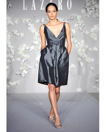 Short Gray Bridesmaid Dresses
