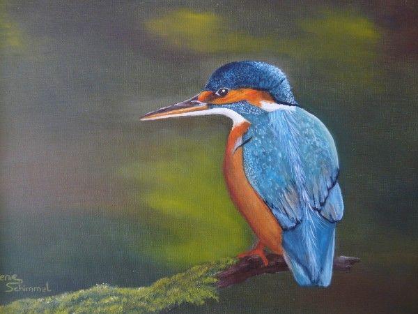 Ijsvogel (verkocht) | Schilderijen van Lenie Schimmel ...