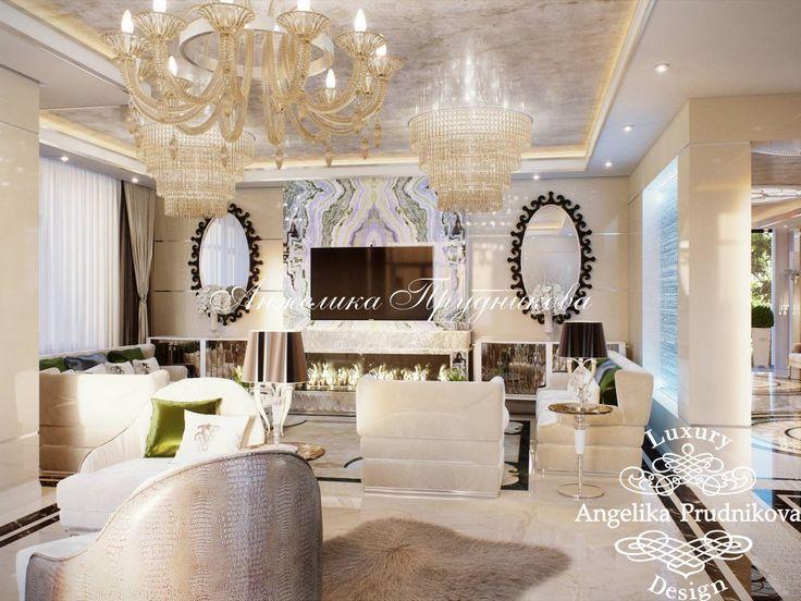 Дизайн проект интерьера гостиной в поселке Миллениум Парк Тициус - фото