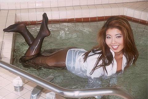 Tights stockings wet mud Pantyhose nylons