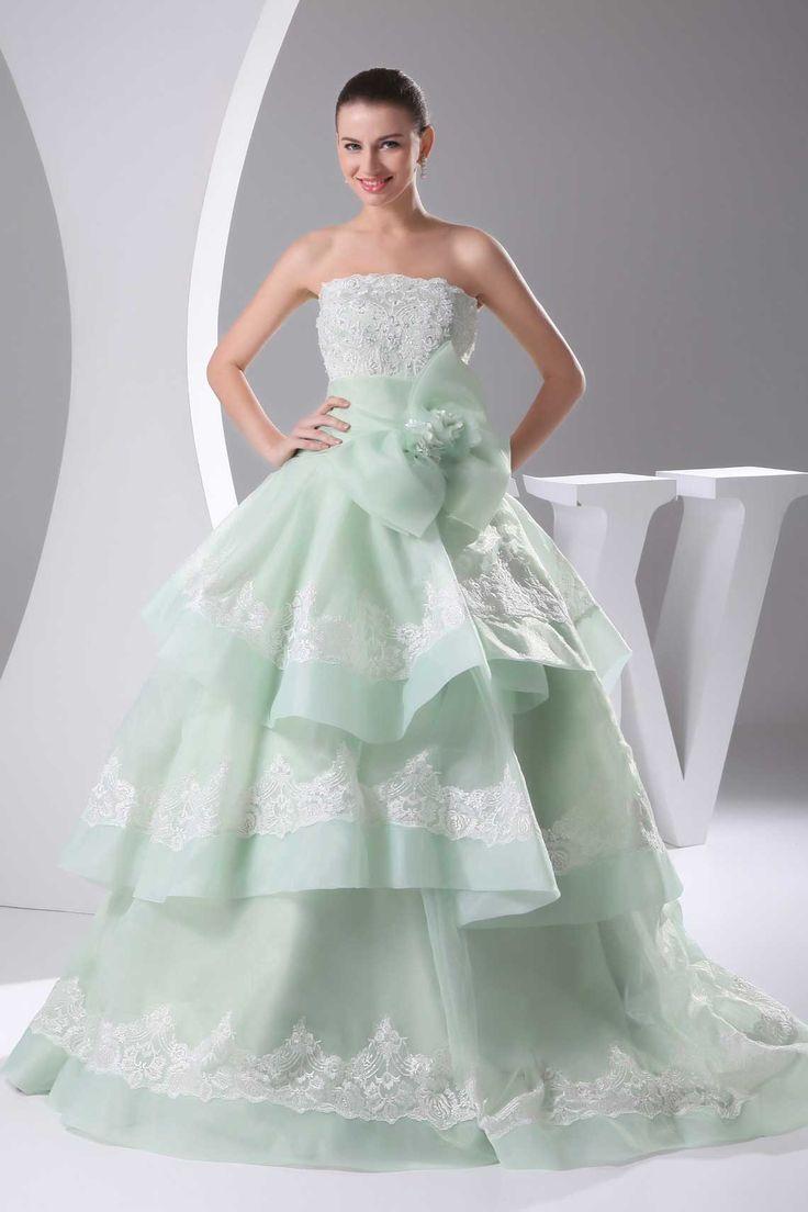 Elegant Ball Gown Pale Green – fashion dresses