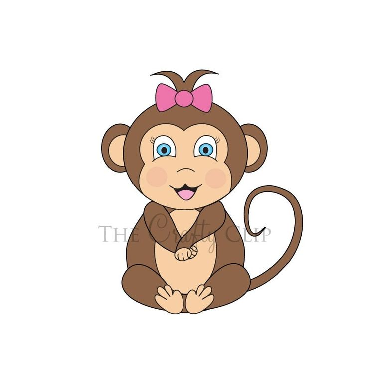 Monkey Cartoon Baby Baby Monkey Clip Art |...