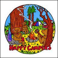 Grateful Dead - Dancing Bears - Happy Campers - Sticker, 4.25 in., SKU: 002399
