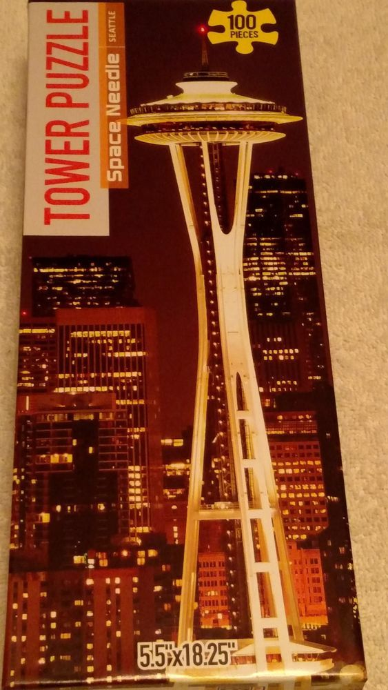tower puzzle space needle seattle 100 piece new and sealed