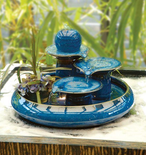 Locarno Blue - Ceramic Indoor Water Feature