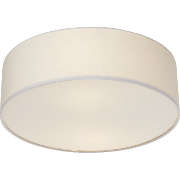 Free Shipping.  Shop drum flush mount lamp.   Small changes make a big difference.  Elevate the standard lighting down the hall and or center of the ceiling with this understated light that spans nearly two feet.