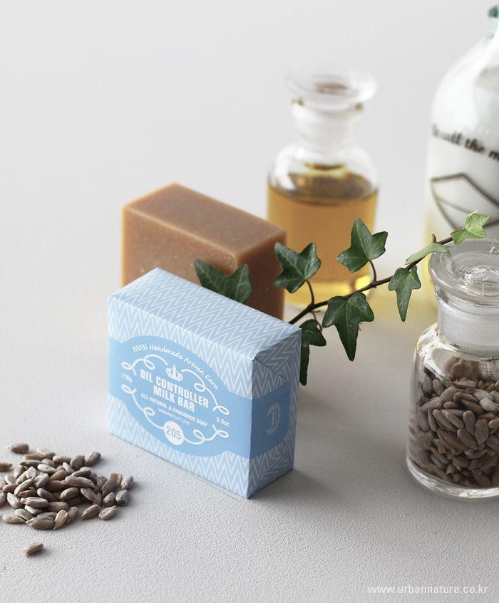 urbannature handmade aroma soap-205 oil controller milk bar 어반네이쳐 핸드메이드 아로마 비누