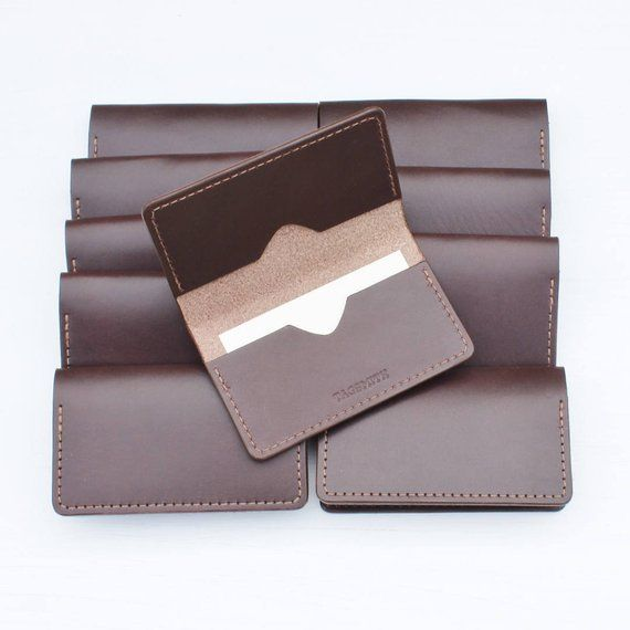Business Card Holder Leather Business Card Case Personalized Etsy Leather Business Cards Leather Business Card Case Card Holder Leather