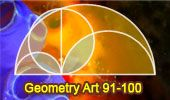 Geometry art 91-10: Semicircle, Diameter, Tangent, Perpendicular, Semi-chord, Circle, Area, Arbelo, Archimedes. Level: High School, College. Education, Teaching