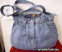 Картинки по запросу сшить сумку старых джинс