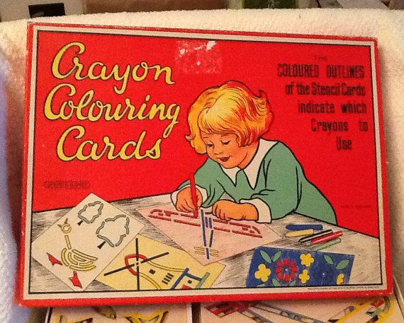 Quite vintage c.1940s Spear's Games Crayon by BuyfromGroovy