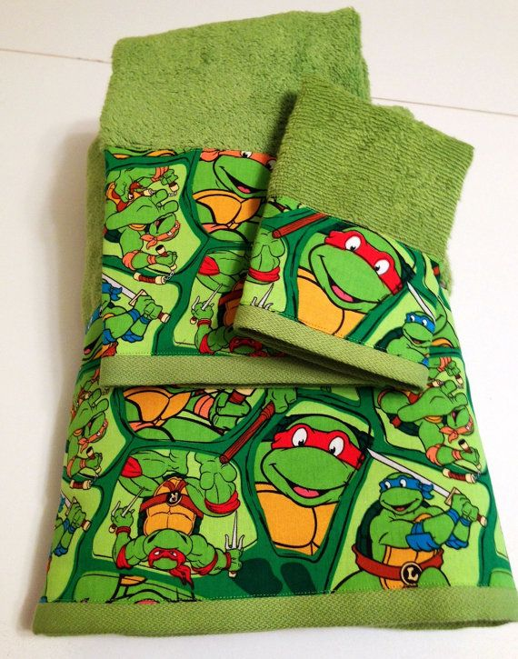Great This Listing Is For A Teenage Mutant Ninja Turtles Themed Towel Set. The Set  Is