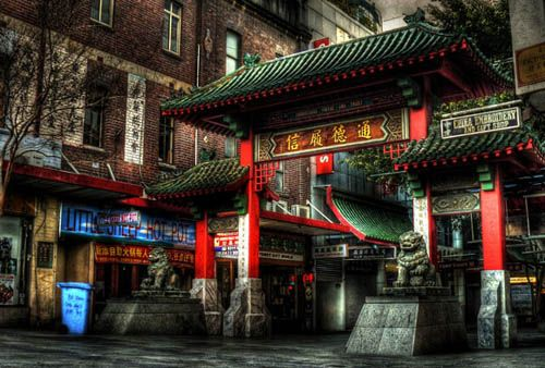 China town    The Paifang at the northern end of Dixon St, entry to Sydney's Chinatown. HDR, 5 exposures.