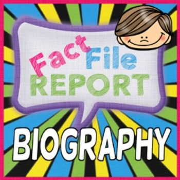 Grab your students' attention with this unique Biography Research Report. Students will research an assigned/chosen famous person, creating note pages of researched facts on their childhood, early adult life, career, accomplishments and other interesting facts.