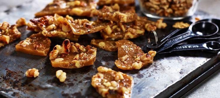 Ingefärskaramell med valnötter