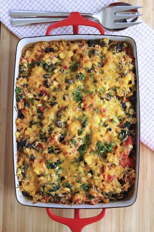 Rice and Black Bean Casserole - Green Valley Kitchen