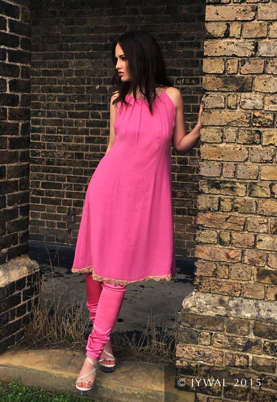 Hand Crafted Deep Pink Festive Ethnic Dress  Formal by Jywal