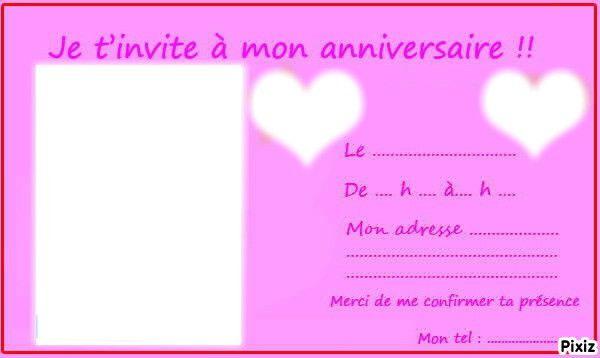 Invitation A Un Anniversaire Fresh Invitation Anniversaire Ado